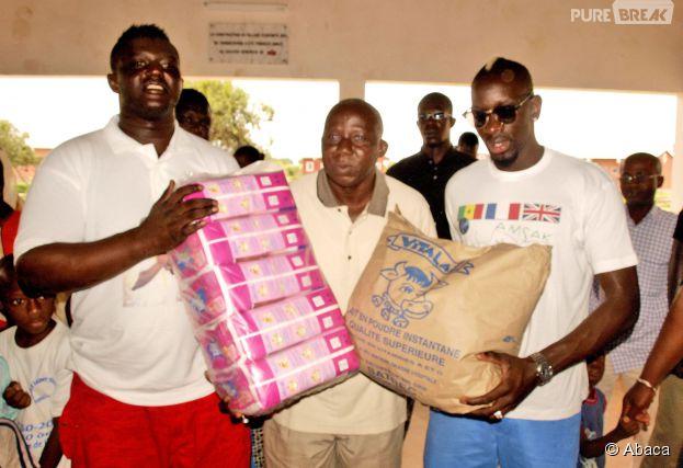 Mamadou Sakho en voyage humanitaire