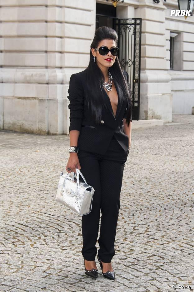 Ayem Nour au défilé Versace en juillet 2014