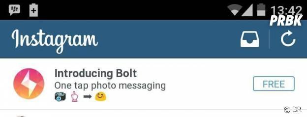 Instagram développerait Bolt, une application qui veut concurrencer Snapchat