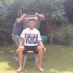 Baptiste Giabiconi relève le Ice Bucket Challenge et nomine Shy'm et Hanouna