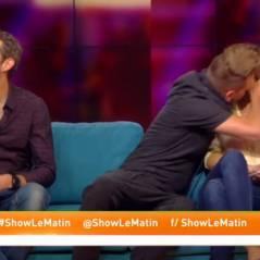 Keen'v drague et embrasse Stéphanie Loire dans Show le matin