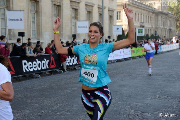 Laury Thilleman : sportive souriante à La Parisienne 2014