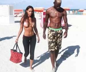 Mario Balotelli et Fanny Neguesha avant la rupture, à Miami le 11 juillet 2014