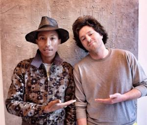 Jean Imbert pose avec Pharrell Williams