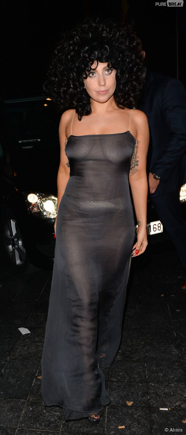 Lady Gaga : seins transparents à Bruxelles le 22 septembre 2014