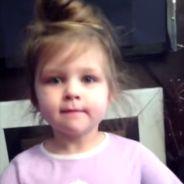 Trop mignon : cette petite fille n'arrive pas à retenir une comptine pour enfant
