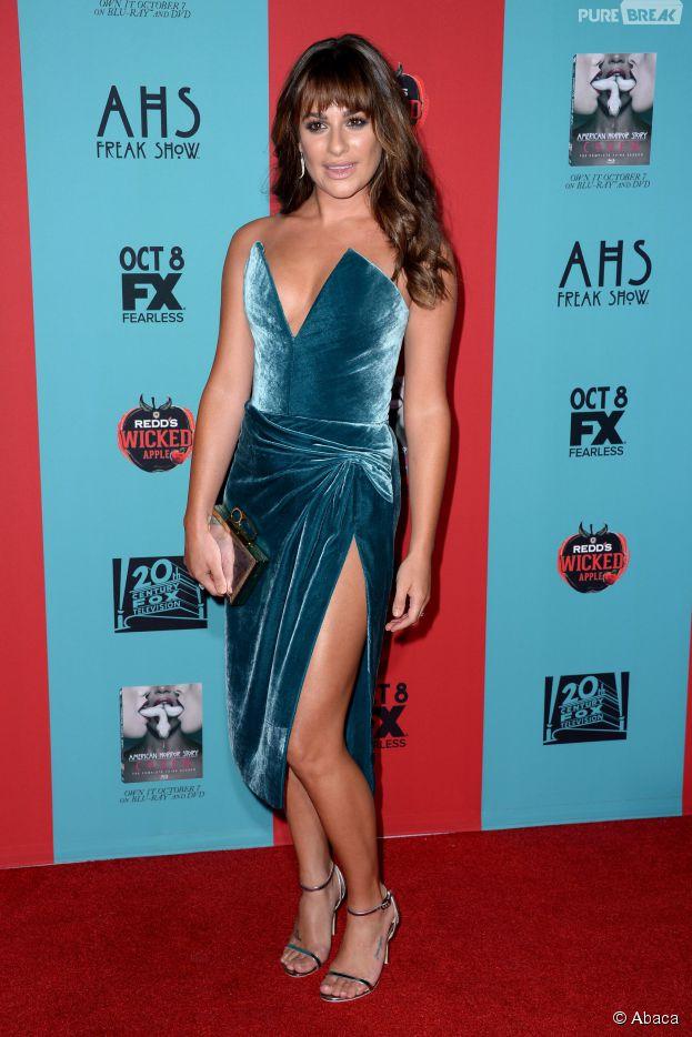 Lea Michele sexy à l'avant-première de la saison 4 de American Horror Story le dimanche 5 octobre 2014