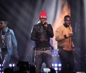 Black M sur la scène des Trace Urban Music Awards 2014, le 22 octobre au Casino de Paris