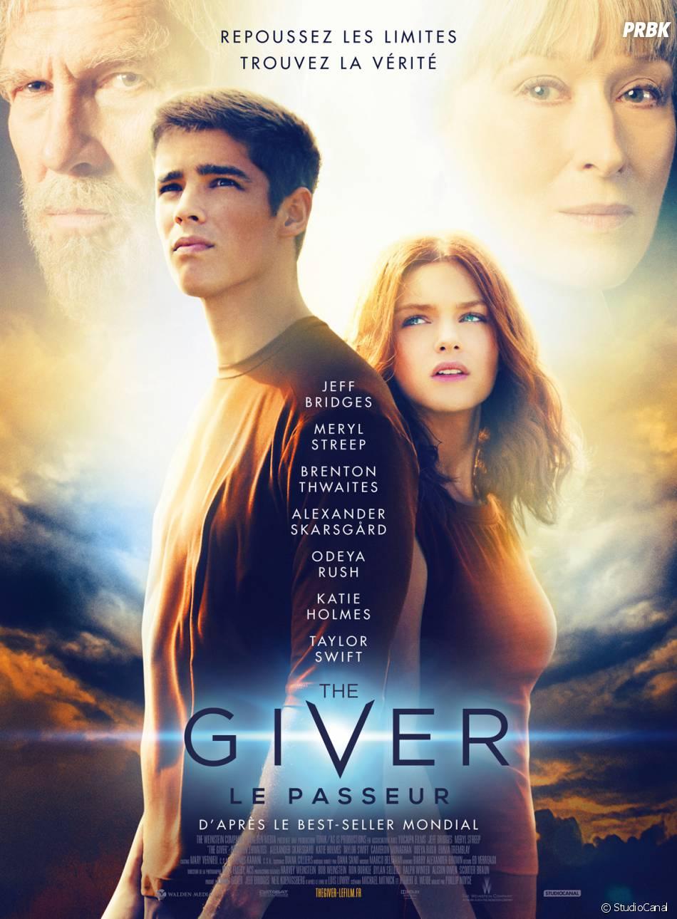 The Giver : affiche avec Brenton Thwaites, Odeya Rush, Jeff Bridges et Meryl Streep