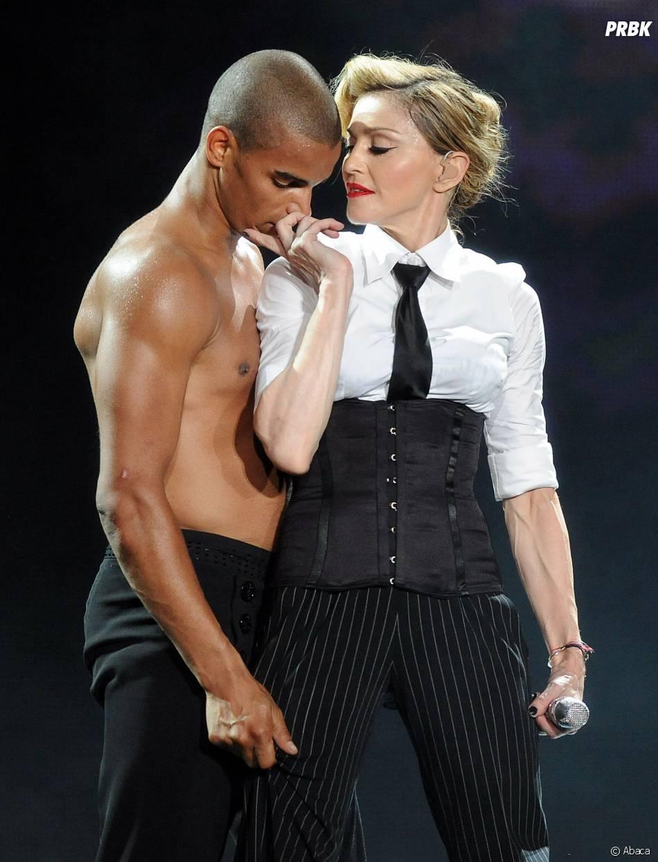 Brahim Zaibat et Madonna sur scène