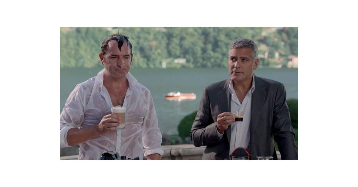 Jean dujardin s 39 essaie au what else avec george clooney pour nespresso - Jean dujardin et george clooney ...
