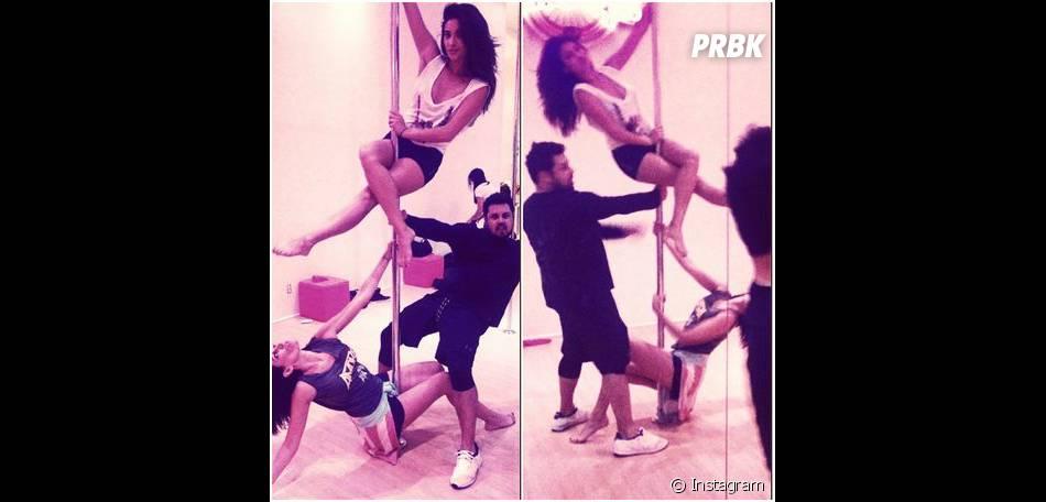 Shay Mitchell sexy pour s'essayer au pole dance, le 4 novembre 2014
