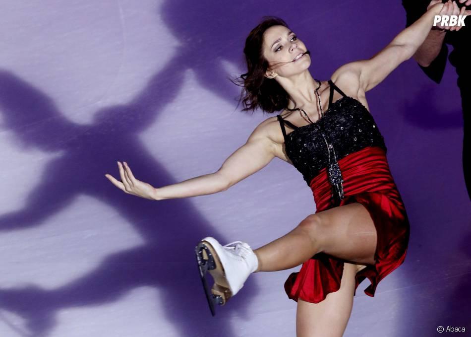 Nathalie Péchalat chausse les patins le 23 novembre 2014