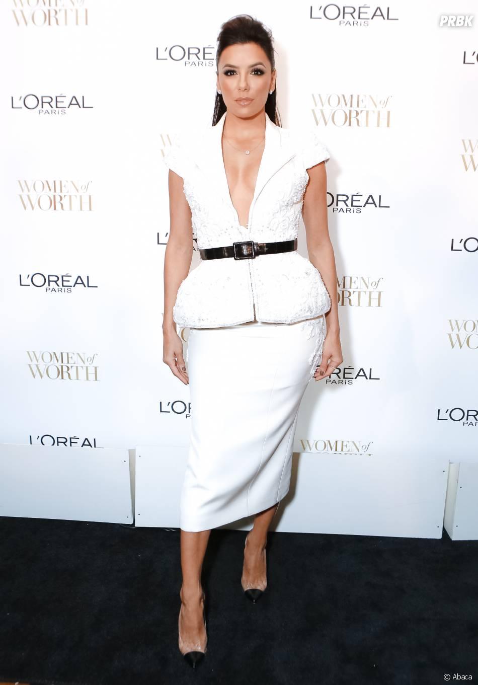 Eva Longoria à la soirée Women of Worth de L'Oreal, le 2 décembre 2014 à New York
