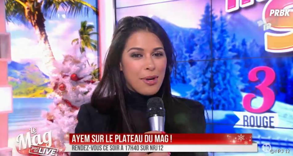Ayem Nour invitée dans Le Mag de NRJ 12 le 5 décembre 2014