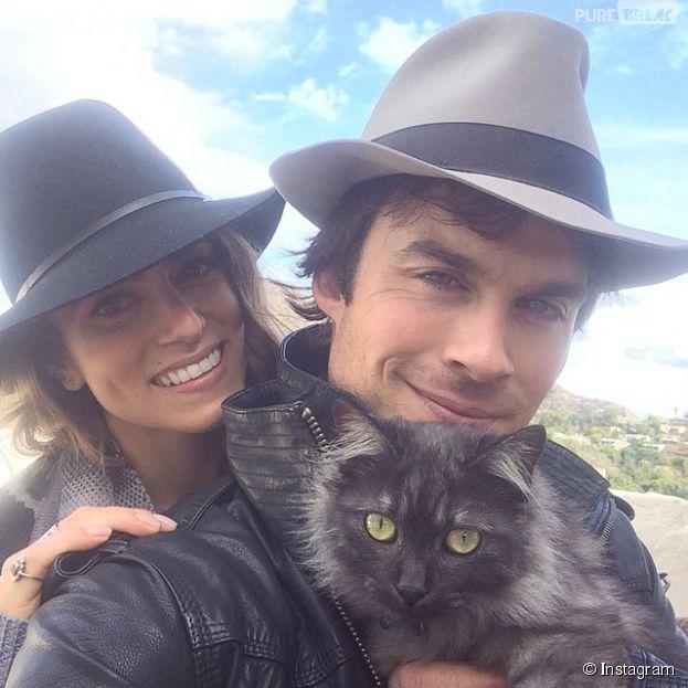 Ian Somerhalder et Nikki Reed : selfie avec leur chaton sur Instagram, le 3 novembre 2014