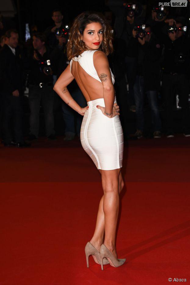 Tal sexy sur le tapis rouge des NMA 2014, le 13 décembre à Cannes
