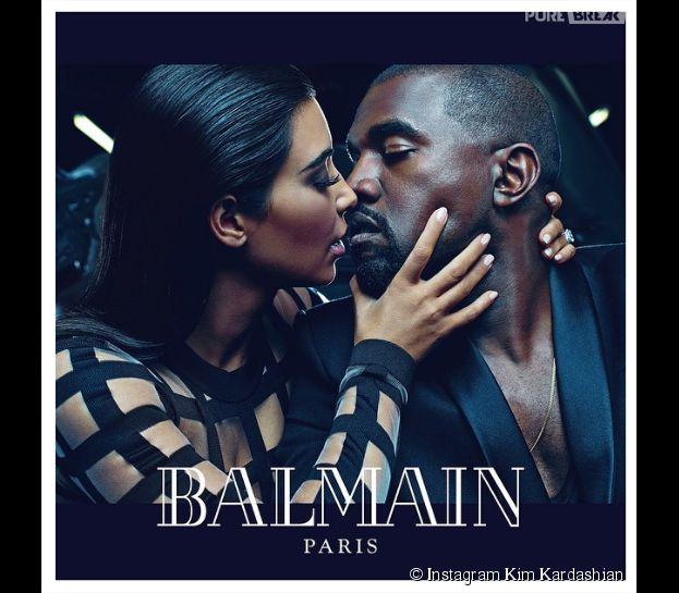 Kim Kardashian et Kanye West : le couple égérie de la marque Balmain