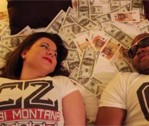 Cindy Lopes et Alibi Montana dans le clip de Jamais syncro