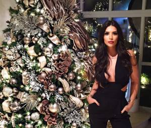 Anara Atanes, la compagne de Samir Nasri, sexy pour Noël, le 25 décembre 2014