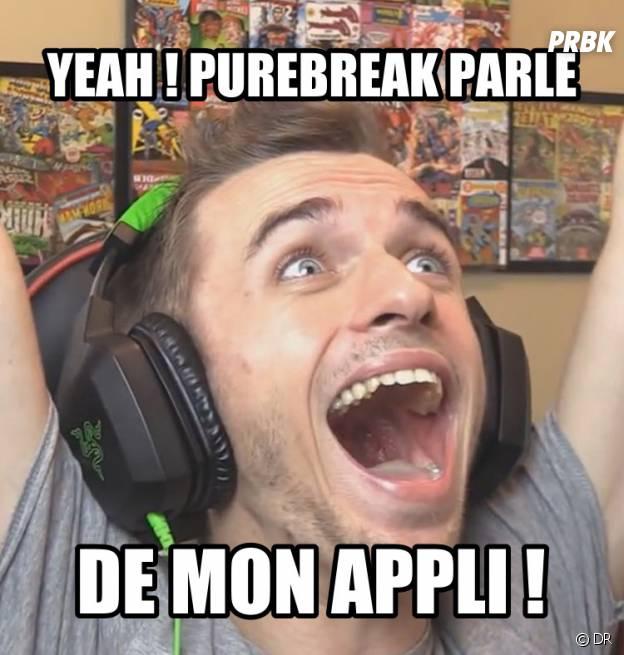 """L'appli Squeezie et ses """"memes"""""""