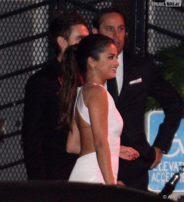 Selena Gomez et Zedd à leur arrivée à une soirée des Golden Globes 2015, le 11 janvier 2015 à Los Angeles
