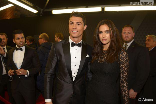 Cristiano Ronaldo et Irina Shayk : photo sur le tapis rouge du Ballon d'or 2013, le 13 janvier 2014 à Zurich