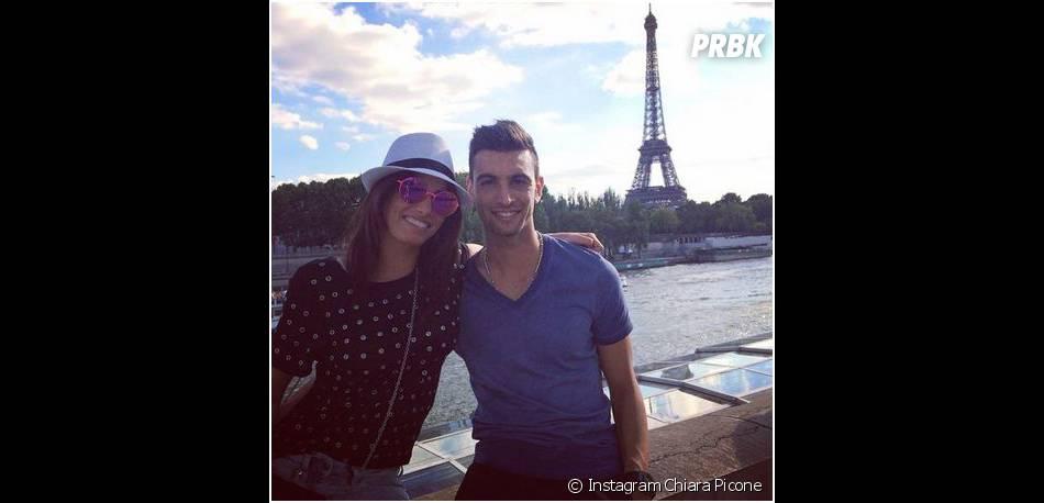 Javier Pastore et sa copine Chiara Picone : couple heureux devant la tour Eiffel