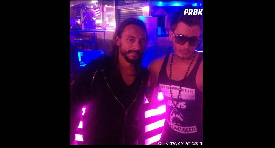Dorian Rossini et Bob Sinclar pendant le tournage de DJ mode d'emploi, pour MCM