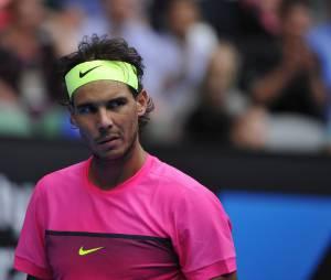 Rafael Nadal pendant l'Open d'Australie 2015 à Melbourne