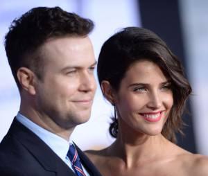 Cobie Smulders et son mari Taran Killam en couple à l'avant-première de Captain America 2, le 13 mars 2014 à Los Angeles