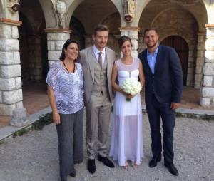Xavier Barachet et sa femme Charlène aux côtés du joueur William Accambray