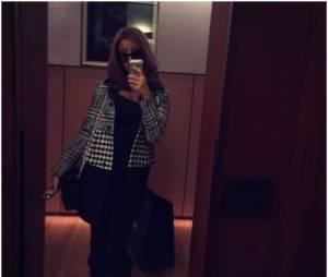 Zahia Dehar : photo de son séjour à Milan en janvier 2015
