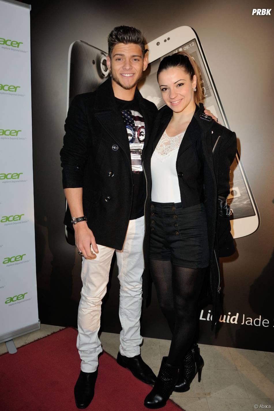 Rayane Bensetti et Denitsa Ikonomova : le duo se reforme pour la présensation du Liquid Jade S d'Acer, le 5 février 2014 à Paris
