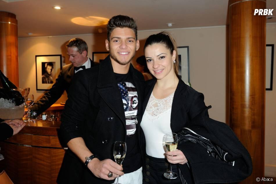 Rayane Bensetti et Denitsa Ikonomova lors de la présensation du Liquid Jade S d'Acer, le 5 février 2014 à Paris