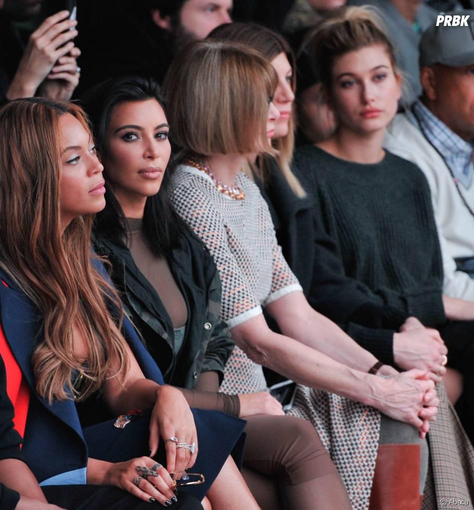 Beyoncé, Kim Kardashian et Anna Wintour au défilé Adidas x Kanye West, le 12 février 2015 à New York