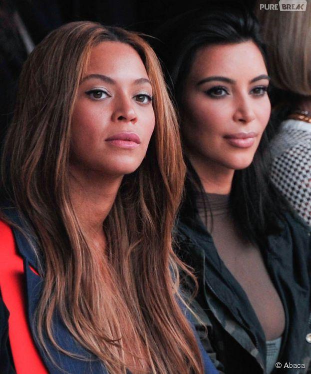 Beyoncé et Kim Kardashian au défilé Adidas x Kanye West, le 12 février 2015 à New York