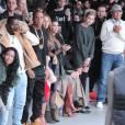 Cassie, Diddy, Jay Z, Beyoncé, Kim Kardashian et Hailey Baldwin au défilé Adidas x Kanye West, le 12 février 2015 à New York