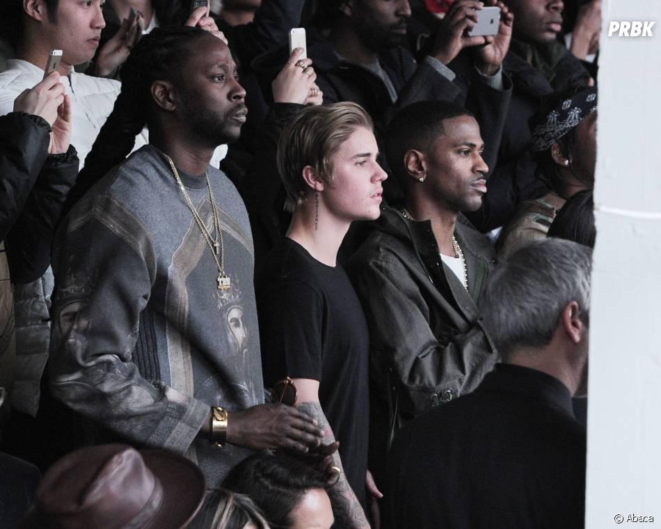 Justin Bieber et Big Sean au défilé Adidas x Kanye West, le 12 février 2015 à New York