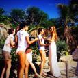 Camille Cerf, Laury Thilleman, Flora Coquerel, Delphine Wespiser pour le voyage d'intégration de Miss France 2015, à Punta Cana