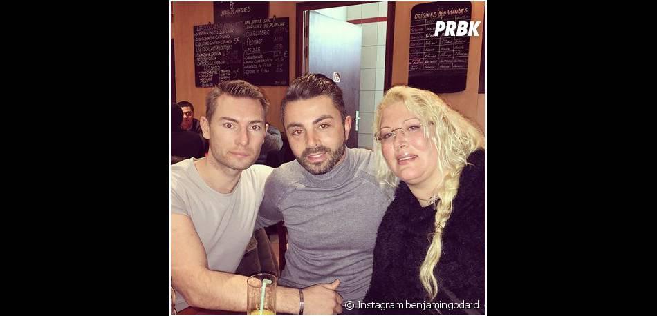 Loana avec Frédéric et Benjamin (Qui veut épouser mon fils ?) sur Instagram, le 2 décembre 2014