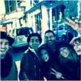 Fauve Hautot et son petit-ami Jules, Christophe Licata et sa femme Coralie, Silvia Notargiacomo et Denny Imbroisi à Londres en mars 2015