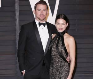 Channing Tatum et sa femme Jenna Dewan Tatum à la soirée Vanity Faire après les Oscars 2015