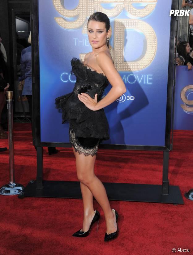 Lea Michele à l'avant-première du film Glee en 2011
