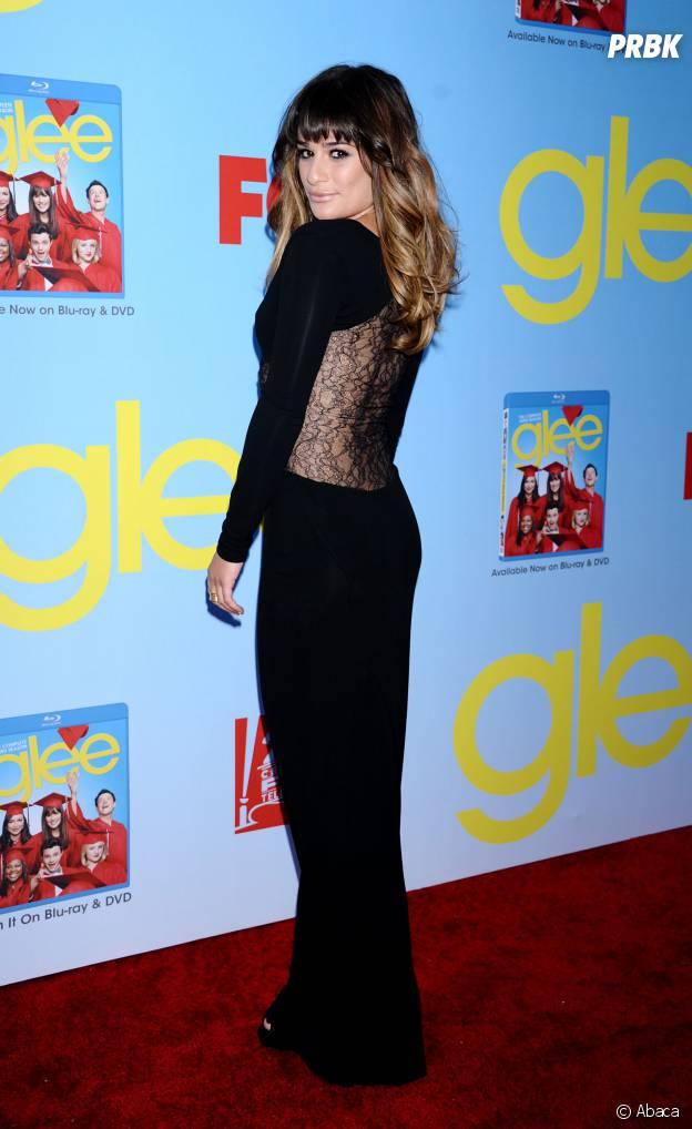 Lea Michele à l'avant-première de la saison 4 de Glee en 2012