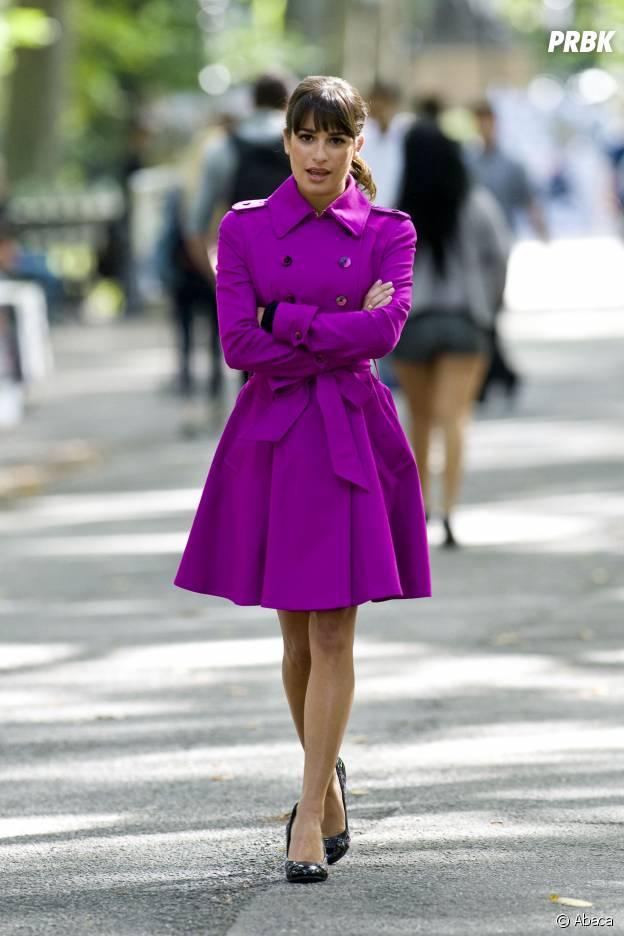 Lea Michele sur le tournage de Glee en 2013