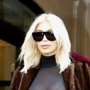 Kim Kardashian, le fashion faux pas : haut 100% transparent et décolleté pour son départ de Paris