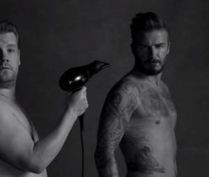 David beckham parodie sa pub H&M de 2012