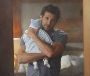 Grey's Anatomy saison 10 : Derek et son fils Bailey sur une photo