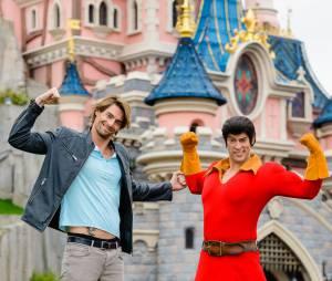 Camille Lacourt à Disneyland Paris, le 12 avril 2015